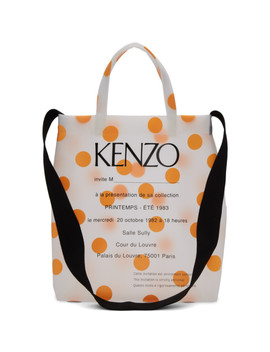 Orange Polka Dot Invitation Tote by Kenzo