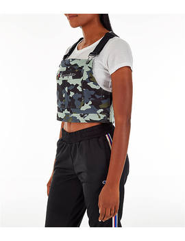 Women's Champion Superfleece Overall Bib Crop Top by Champion