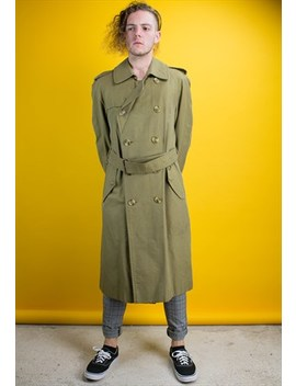 Vintage Green Burberry Trench Coat by Burberry