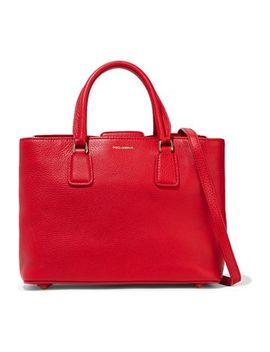 Pebbled Leather Shoulder Bag by Dolce & Gabbana