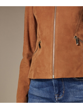 Panelled Suede Leather Jacket by Je012