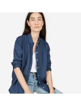 Everlane Linen Relaxed Shirt 2, Indigo Blue by Everlane