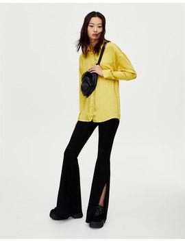 Satynowa Koszula Oversize by Pull & Bear