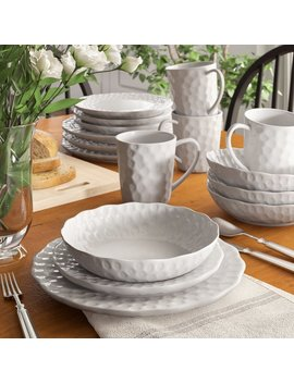 Birch Lane™ Heritage Vanilla Marble Wingfield 16 Piece Dinnerware Set, Service For 4 & Reviews by Birch Lane™ Heritage