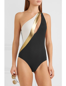 Calypso One Shoulder Cutout Swimsuit by Zeus+Dione