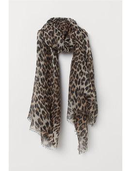 Sjaal Met Luipaarddessin by H&M