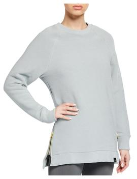Milwood Ribbed Side Zip Crewneck Sweater by Varley