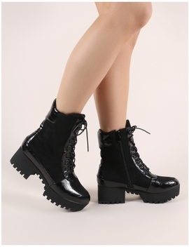 Abby Lace Up Ankle Boots In Black by Public Desire