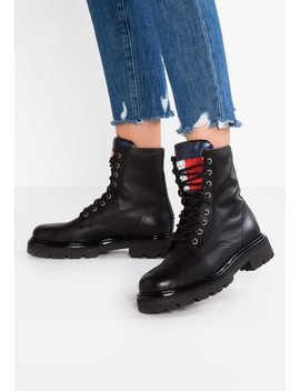 Big Flag Sparkle Lace Up   Schnürstiefelette by Tommy Jeans