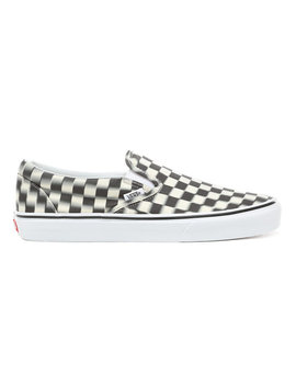 Blur Check Slip On Shoes by Vans