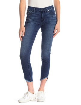 Skinny Ankle Angled Hem Jeans by 7 For All Mankind