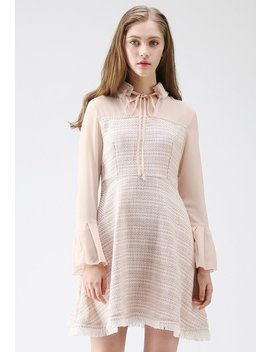 Love At First Sight Tassel Tweed Dress by Chicwish