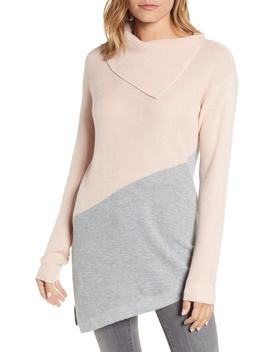 Asymmetrical Colorblock Tunic Sweater by Vince Camuto