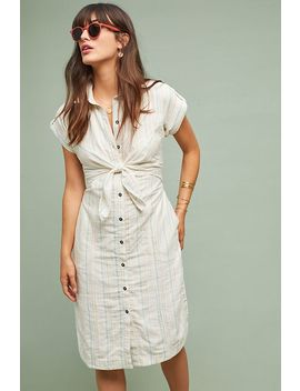 Striped Tie Front Shirtdress by Saturday/Sunday
