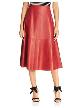 Leather Midi Skirt by Kate Spade New York