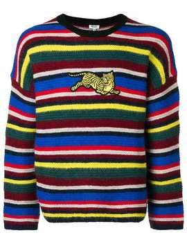 Striped Tiger Patch Sweater by Kenzo