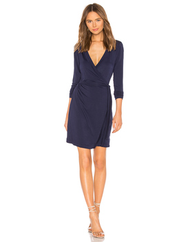 Lenore Wrap Dress by La Made