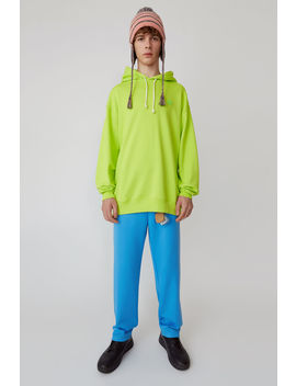 Oversized Sweatshirt Lime Green by Acne Studios