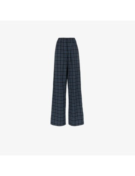 High Waisted Check Trousers by Balenciaga