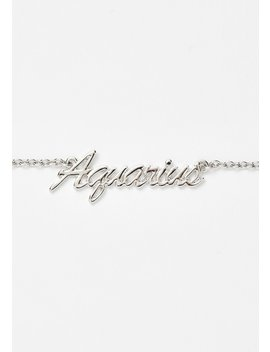 Lil Miss Aquarius Nameplate Necklace by Ciel