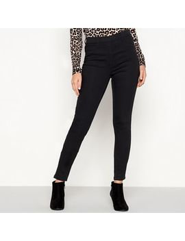 The Collection   Black Cotton Rich Skinny Fit Jeggings by The Collection