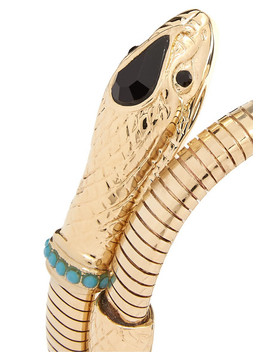 Gold Tone, Crystal And Stone Cuff by Etro