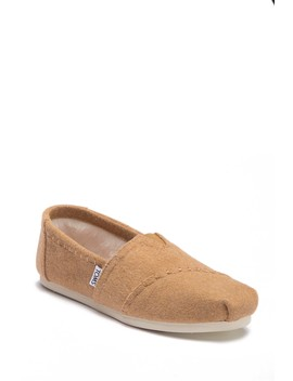 Toffee Faux Fur Classic Alpargata Slip On Sneaker by Toms