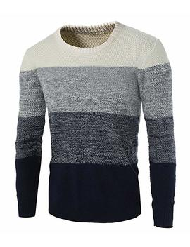 Zicac Men's Casual Fashion Pullover Sweater Assorted Color Knitwear by Zicac