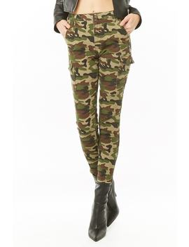 Camo Ankle Zip Pants by Forever 21