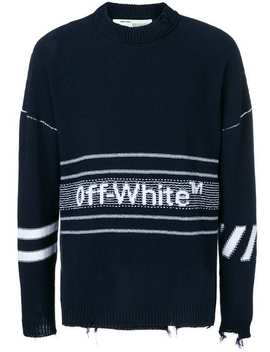 Gerippter Pullover Mit Logo by Off White