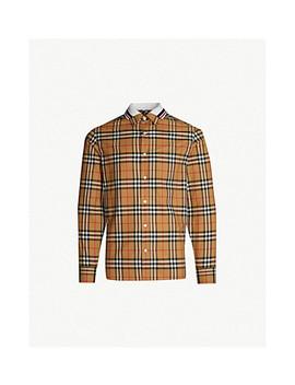 Edward Regular Fit Cotton Shirt by Burberry