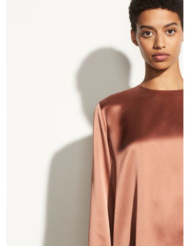 Tie Back Silk Blouse by Vince
