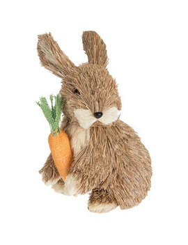 Straw Bunny With Carrot by Hobby Lobby