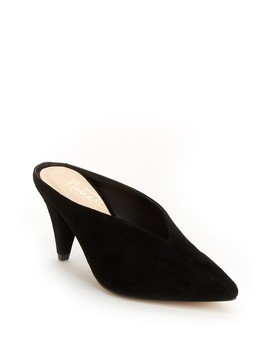 Josie Pointed Toe Suede Clog by Nanette Nanette Lepore