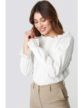 Gathered Neckline Blouse by Na Kd Trend