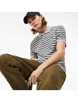 Men's Lacoste Regular Fit Striped Pima Cotton Interlock Polo by Lacoste