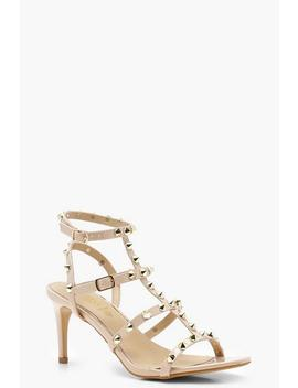 Studded Cage Kitten Heels by Boohoo