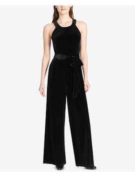 Velvet Wide Leg Jumpsuit by Tommy Hilfiger