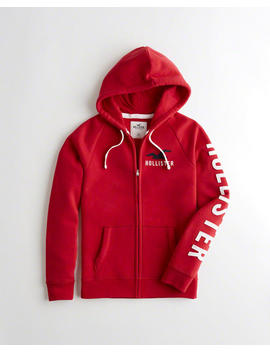 Full Zip Logo Hoodie by Hollister