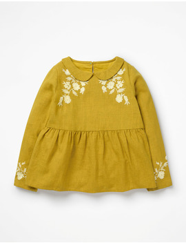 Embroidered Woven Top by Boden