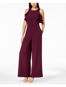 Flutter Sleeve Jumpsuit by Julia Jordan