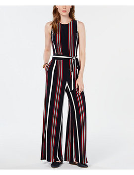 Signature Stripe Jumpsuit, Created For Macy's by Tommy Hilfiger