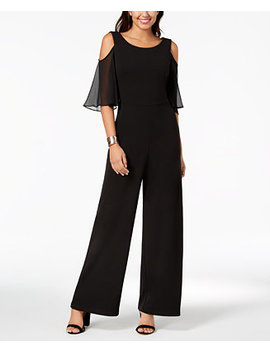Cold Shoulder Wide Leg Jumpsuit by Connected