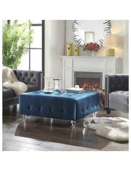 Chic Home Samson Clear Acrylic Legs Velvet Button by Chic Home