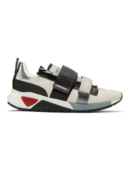 Off White S Kb Strap Sneakers by Diesel
