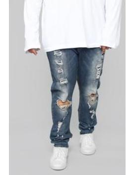 "Cuba Skinny Jeans 32"" Inseam   Indigo by Fashion Nova"