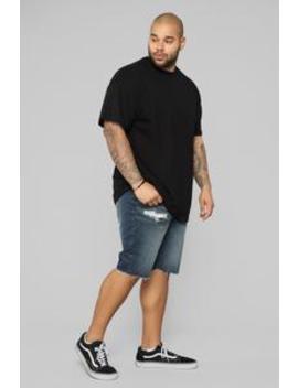 Earl Denim Shorts   Dark Wash by Fashion Nova