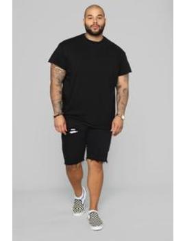Earl Denim Shorts   Black by Fashion Nova