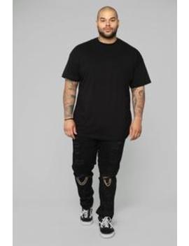 "Cuba Skinny Jeans 32"" Inseam   Black by Fashion Nova"