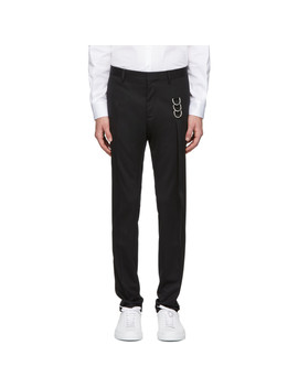Black Side Tape Ring Cool Guy Trousers by Dsquared2